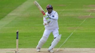 Shivnarine Chanderpaul out for 46; Jermaine Blackwood scores 50 in West Indies vs England 1st Test at Antigua, Day 3
