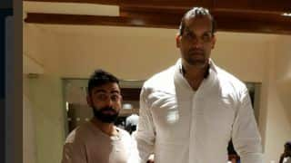 Kohli meets WWE Superstar The Great Khali