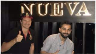 शेन वॉटसन और टीम के अन्य खिलाड़ियों ने विराट कोहली के रेस्टोरेंट में किए मजे