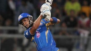 Lendl Simmons, Michael Hussey help Mumbai Indians post 178/3 against Rajasthan Royals in IPL 2014