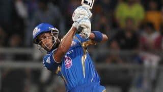 Lendl Simmons, Michael Hussey help Mumbai Indians post 178/3 against Rajasthan Royals in IPL 2014