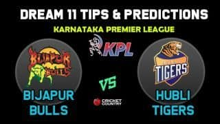 BIJ vs HT Dream11 Team Bijapur Bulls vs Hubli Tigers KPL 2019 Karnataka Premier League – Cricket Prediction Tips For Today's T20 Match at Bengaluru