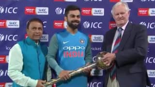 Watch Virat Kohli thank fans and players after retaining the ICC Test Championship Mace
