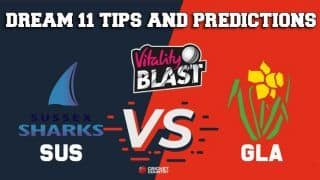 Dream11 Team Sussex vs Glamorgan South Group VITALITY T20 BLAST ENGLISH T20 BLAST – Cricket Prediction Tips For Today's T20 Match SUS vs GLA at County Ground