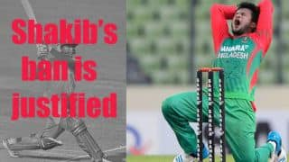 Shakib Al Hasan's ban is justified
