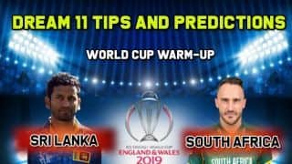 Dream11 Prediction: SL vs SA Team Best Players to Pick for Today's Match of World Cup 2019 Warm-up Match 2 between Sri Lanka and South Africa at 3:00 PM