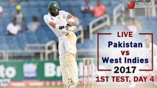 Live Cricket Score, PAK vs WI, 1st Test, Day 4: Stumps