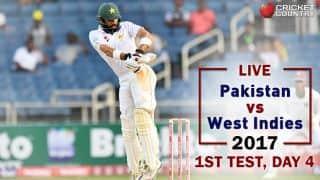 Live Cricket Score, Pakistan vs West Indies, 1st Test, Day 4: Stumps