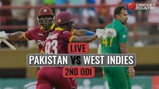 Live Cricket Score, Pakistan vs West Indies 2017, 2nd ODI at Guyana: PAK win by 74 runs