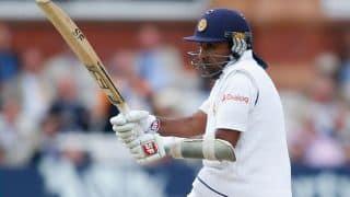 Mahela Jayawardene dismissed by Junaid Khan for Sri Lanka against Pakistan in 1st Test at Galle