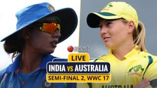 Live Cricket Score, IND vs AUS, WWC17, semi-final 2: India to bat first