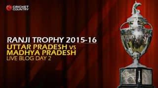 UP 600/5   Live Cricket Score, Uttar Pradesh vs Madhya Pradesh, Ranji Trophy 2015-16, Group B match, Day 2 at Moradabad: At stumps, UP looks strong