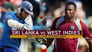 Live Cricket Scorecard: Sri Lanka vs West Indies 2015, 2nd T20 at Pallekele