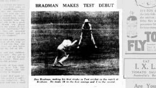 Don Bradman Firsts Part 4: His disappointing Test debut