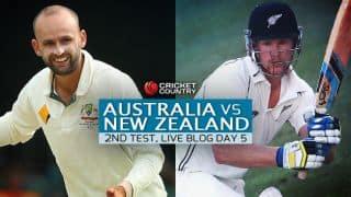 NZ 295 in 88.3 overs | Live Cricket Score, Australia vs New Zealand 2015, 1st Test at Brisbane, Day 5: Australia win by 208 runs