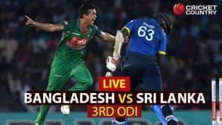 Live Cricket Score Bangladesh vs Sri Lanka, 3rd ODI at Colombo: SL win by 70 runs; level series