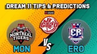 Dream11 Team Montreal Tigers vs Edmonton Royals Match 9 GT20 CANADA 2019 GLOBAL T20 CANADA – Cricket Prediction Tips For Today's T20 Match MON vs ERO at Brampton