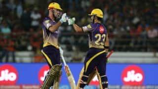 IPL 2017: Chris Lynn, Gautam Gambhir's record stand helps Kolkata Knight Riders (KKR) crush Gujarat Lions (GL) by 10 wickets in Match 3