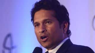 Watch: Sachin Tendulkar advices pillion riders to wear helmet
