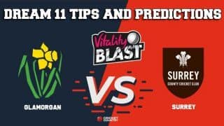 Dream11 Team Glamorgan vs Surrey South Group VITALITY T20 BLAST ENGLISH T20 BLAST – Cricket Prediction Tips For Today's T20 Match GLA vs SUR at The Oval