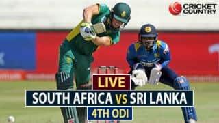 Live Cricket Score, SA vs SL, 4th ODI at Cape Town: SA win by 40 runs