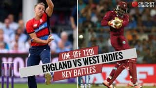England vs West Indies 2017, one-off T20I at Chester-le-Street: Chris Gayle vs Tom Curran and other key battles
