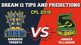 BAR vs JAM Dream11 Team CPL 2019 – Cricket Prediction Tips For Today's T20 Match Barbados Tridents vs Jamaica Tallawahs at  Bridgetown