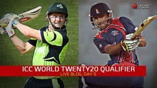 Live Cricket Score ICC World Twenty20 Qualifier 2015, July 13 all matches: Ireland defeat Nepal by eight wickets