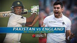 PAK 286/4 | Live Cricket Score Pakistan vs England 2015, 1st Test, Day 1: Malik, Shafiq consolidate