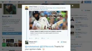 Moeen Ali disrespects Aakash Chopra, but apologises immediately: Twitter reactions
