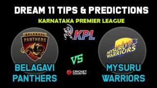 BP vs MW Dream11 Team Belagavi Panthers vs Mysuru Warriors KPL 2019 Karnataka Premier League – Cricket Prediction Tips For Today's T20 Match at Bengaluru