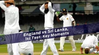 England vs Sri Lanka 2014: Key moments from 1st Test at Lord's