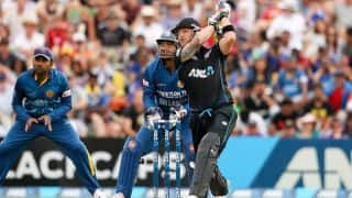 Brendon McCullum dismissed for 117 by Jeevan Mendis