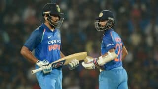Rohit Sharma relished playing alongside Ajinkya Rahane in the ODIs against Australia