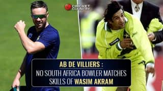 AB de Villiers: No South Africa bowler matches skills of Wasim Akram