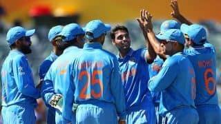 Bhuvneshwar Kumar bowls at nets, may play final odi against England