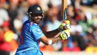 India vs Pakistan Asia Cup 2014 Match 6: Ambati Rayudu departs after scoring 58