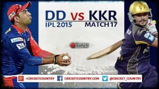 Live Cricket Score, DD vs KKR, IPL 2015, Match 17 at Delhi,  KKR 147/4 after 18.1 overs: KKR win by 6 wickets