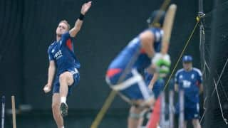 ICC World Cup 2015: Stuart Broad bowls unplayable delivery during nets ahead of warm-up clashes