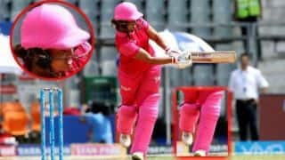 IPL women T20 challenge helmet and pads were covered with cloth