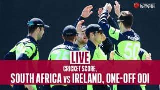South Africa vs Ireland Live score, One-off ODI: Ireland struggling in pursuit of 355