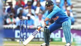 ICC CRICKET WORLD CUP 2019: MS Dhoni stumped for the first time since 2011 in ODIs
