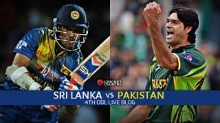 Live Cricket Score, Sri Lanka vs Pakistan 2015, 4th ODI at Colombo, PAK 257 for 3 in 41.5 overs: Pakistan win by 7 wickets, take series 3-1