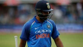 Rohit falls for duck; Shankar makes debut