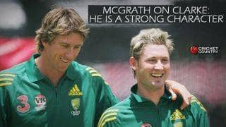 Glenn McGrath: Michael Clarke is a strong character and has done well