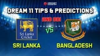 Dream 11 team BAN vs SL, 2nd ODI, Sri Lanka vs Bangladesh ODI – Cricket Prediction Tips For Today's Match BAN vs SL at Colombo