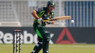 Pakistan lose three in chase of 205