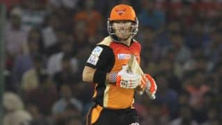 IPL 2016: Sunrisers Hyderabad reach 70-2 in 11 overs against Mumbai Indians; Moises Henriques departs