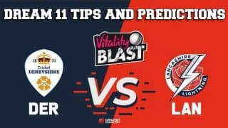 Dream11 Team Derbyshire vs Lancashire North Group VITALITY T20 BLAST ENGLISH T20 BLAST – Cricket Prediction Tips For Today's T20 Match DER vs LAN at County Ground, Derby