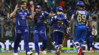 IPL 2015: Mumbai Indians jump to 4th spot following 5 wicket win over Delhi Daredevils